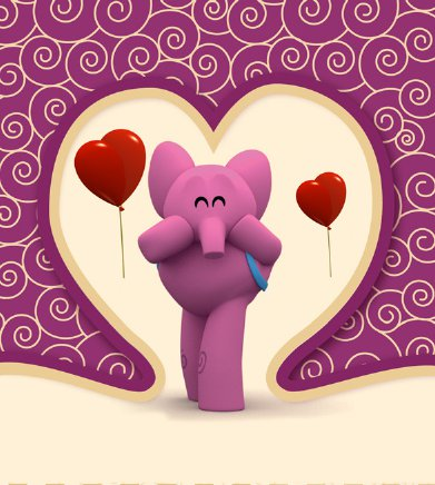 Elly from Pocoyo Valentine's Day Card