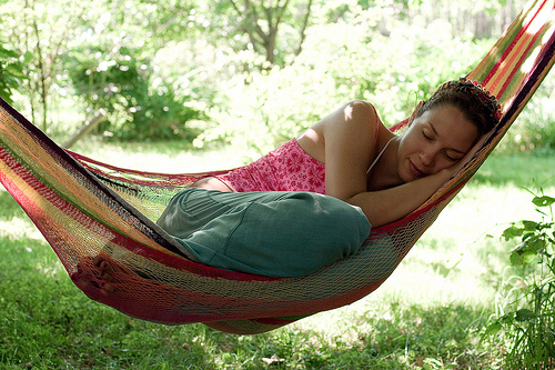 Napping on a Hammock