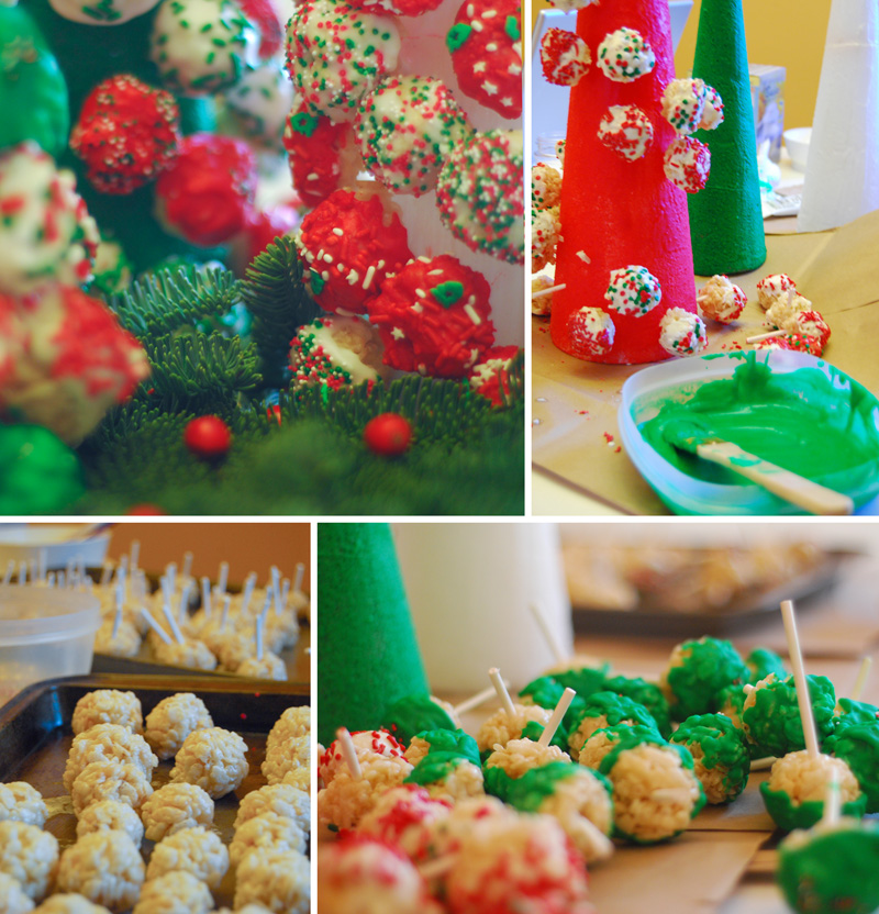 How to Make Rice Krispies Treats Christmas Trees