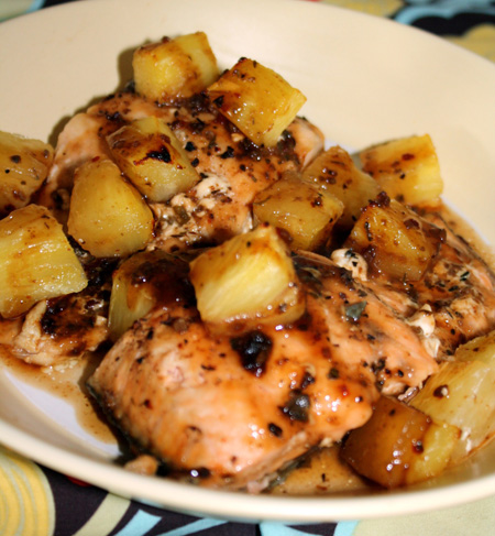 Balsamic Pineapple Salmon