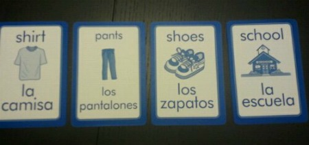 Storytelling Using Spanish Flashcards