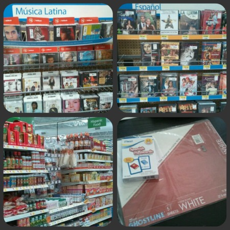 Latino Products in Walmart: Musica Latina, Spanish DVDs, Hispanic Food