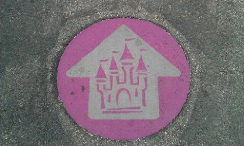 This Way to the Castle - Castle Icons at Disney World Parking Lot