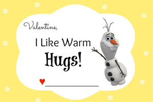 Disney Frozen Valentine's Day Cards