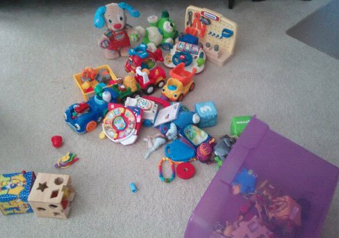 Clutter of Toys Kids Can Clean Up