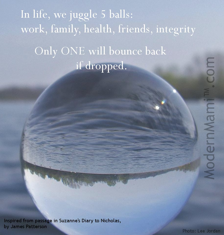 Work Life Balance Quote Life Is Full Of Glass Balls And Work Isn't One Of Them  Modernmami™