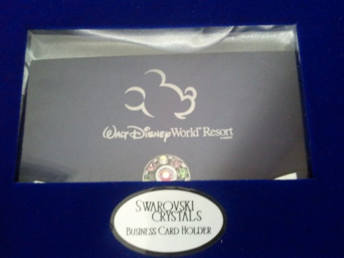 Disney Engraved Swarovski Crystals Business Card Holder