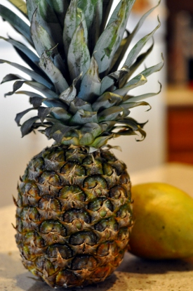 Fresh Pineapple and Mango for Pineapple Mango Smoothie Recipe
