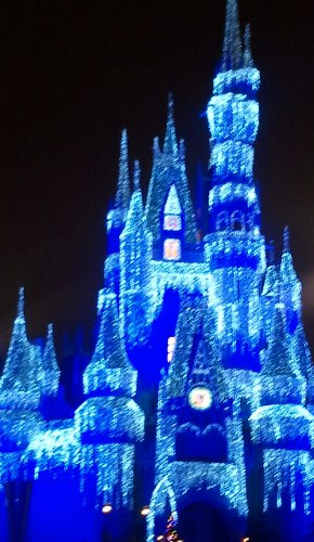 Cinderella's Castle Holiday Lights at Magic Kingdom Disney World