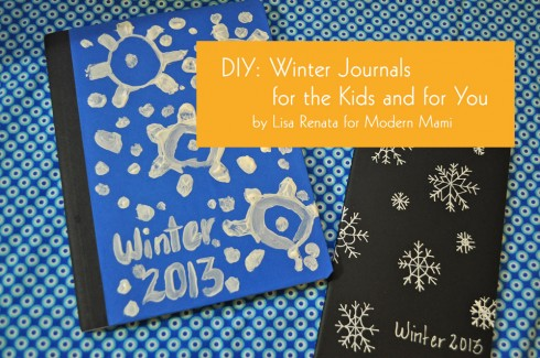 DIY winter snowflake journal