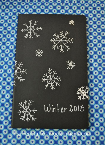 DIY Winter Snowflake Journal for Mom