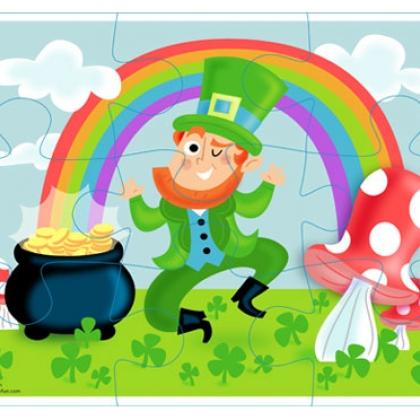 St. Patrick's Day Leprechaun Puzzle Printable