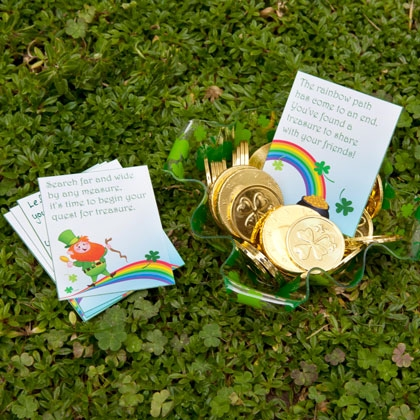 St. Patrick's Day Treasure Hunt Printable Cards