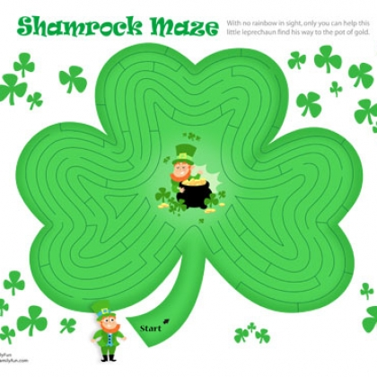 St. Patrick's Day Printable Shamrock Maze