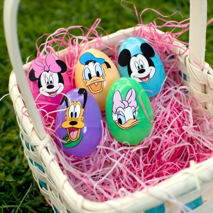 Mickey & Friends Easter Egg Face Stickers