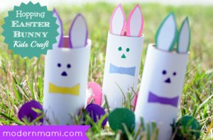Hopping Easter Bunny Kids Craft