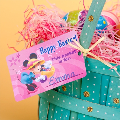 Disney Mickey & Friends Easter Basket Printable Tags