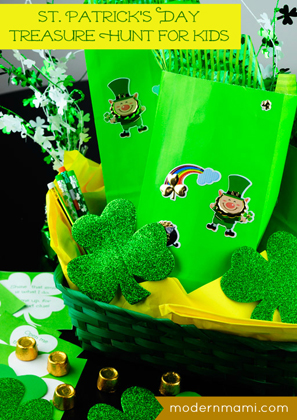 St. Patrick's Day Treasure Hunt for Kids