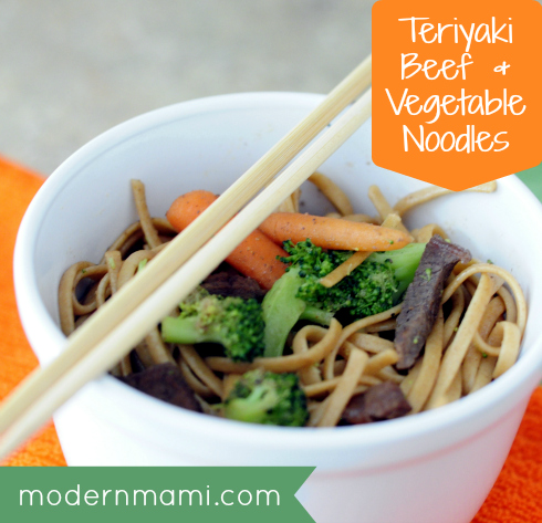 Beef and Vegetable Asian Noodles Recipe