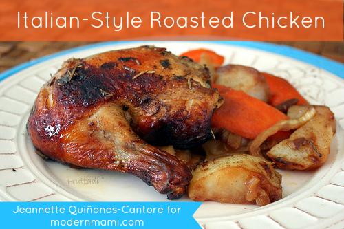 Easy Italian Style Roasted Chicken Recipe Modernmami