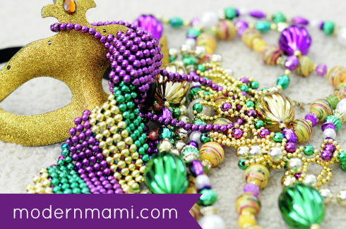 Beads from Mardi Gras at Universal Studios Orlando
