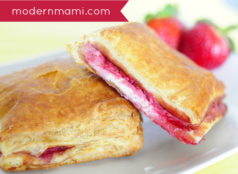 Strawberry and Cream Cheese Pastelitos (Puff Pastry Dessert) Recipe