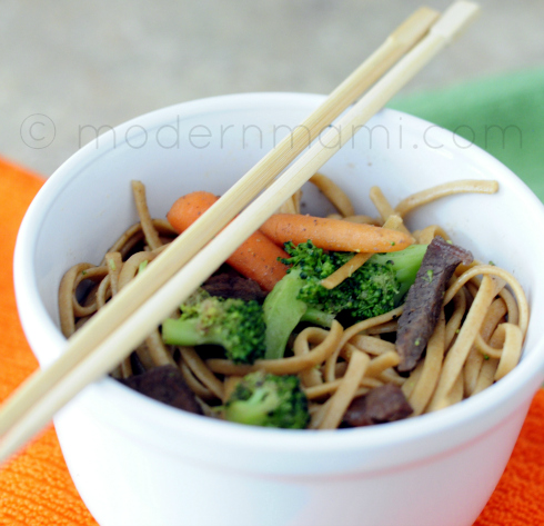 Teriyaki Beef and Vegetable Noodles
