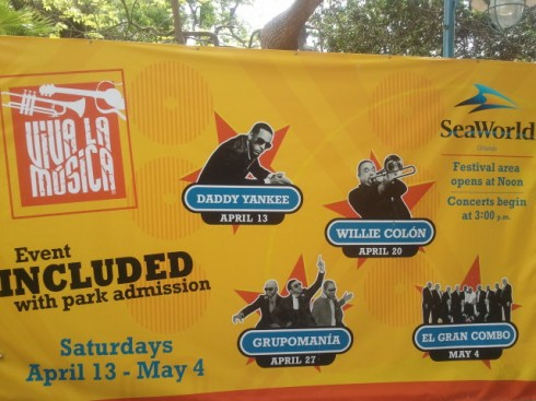 Viva la Música at SeaWorld Orlando 2013 Concert Line-Up