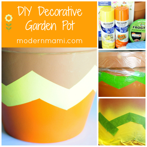 DIY Decorative Garden Pot