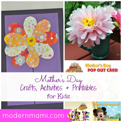 Mother's Day Crafts, Activities, and Printables for Kids