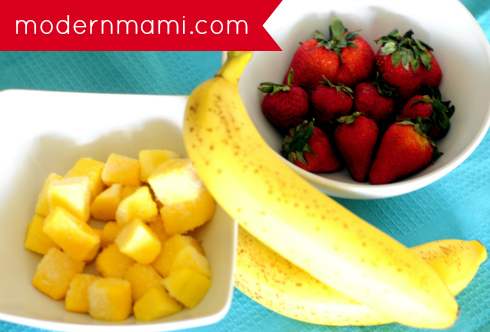 Ingredients for Strawberry Banana Mango Smoothie Recipe
