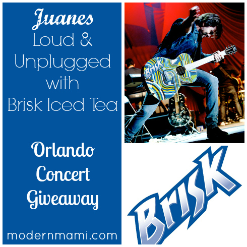 Juanes, Loud & Unplugged Tour with Brisk Iced Tea {Orlando 2013 Concert Giveaway}