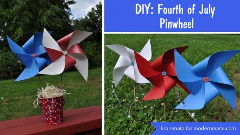 DIY Fourth of July Pinwheels {Kids Craft}