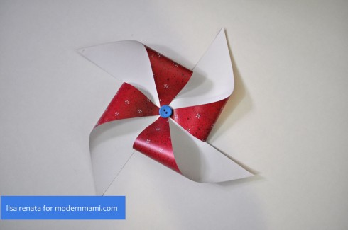 Making Fourth of July Pinwheels