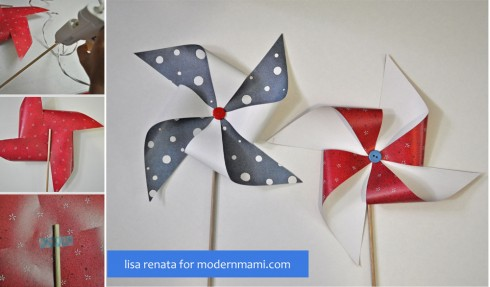 Festive DIY Fourth of July Pinwheels
