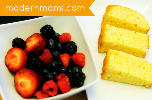 Ingredients for Grilled Poundcake with Mixed Berry Sauce