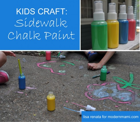 DIY Sidewalk Chalk Paint {Kids Craft}
