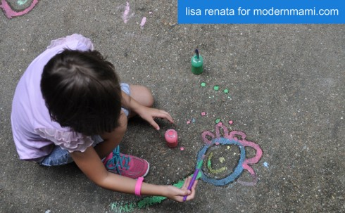 Summer Fun with Homemade Sidewalk Chalk Paint
