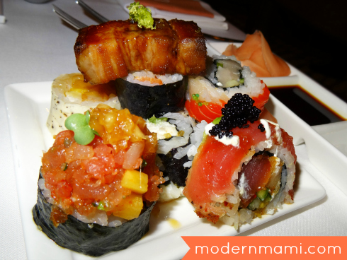 Sushi, Part of California Grill's Menu