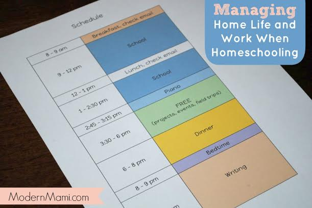Tips for Managing Home Life and Work When Homeschooling