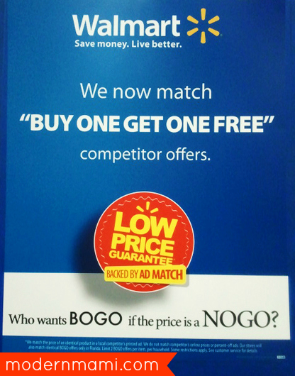 Walmart's BOGO Ad Match in Florida