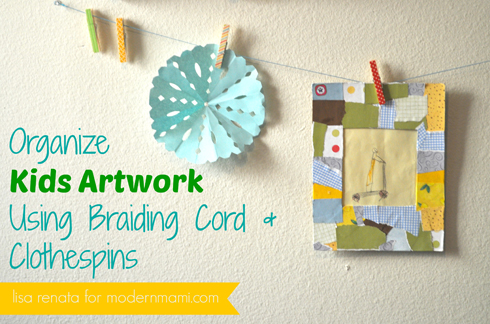 DIY Kids' Artwork Display