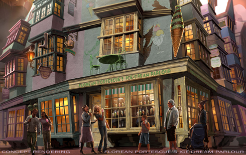 Florean Fortescue's Ice-Cream Parlour, Diagon Alley Wizarding World of Harry Potter, Universal Orlando