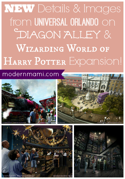 Diagon Alley, Wizarding World of Harry Potter Expansion at Universal Orlando Details and Concept Art Images Released