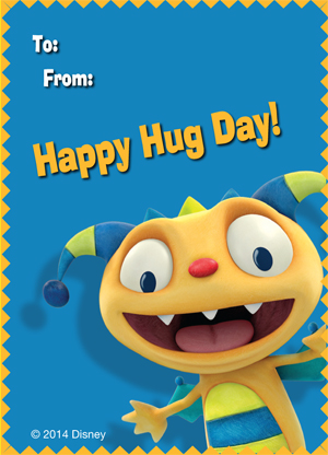 Henry Hugglemonster Printable Valentine's Day Cards