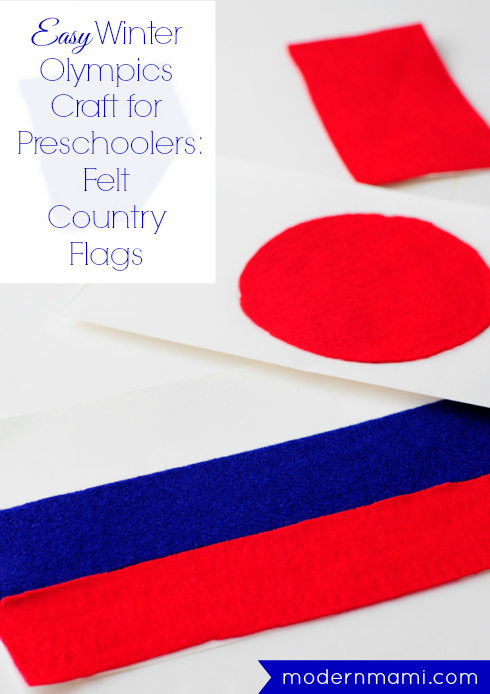 Easy Winter Olympics Craft for Preschoolers: Country Flags