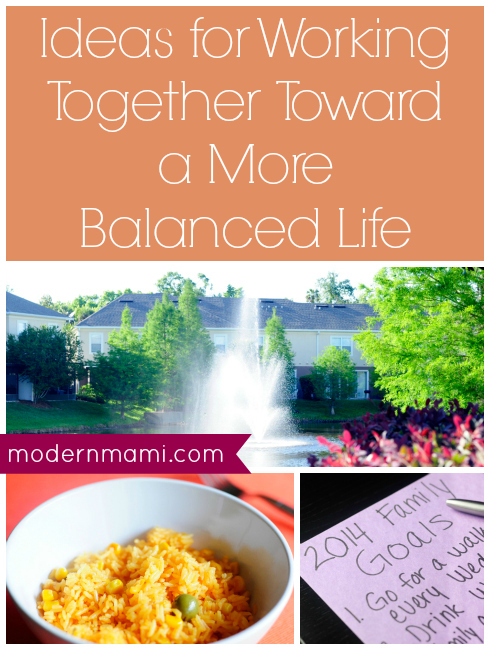 Ideas for Working Together Toward a More Balanced Life