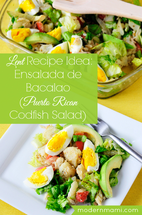 Ensalada de Bacalao, Puerto Rican Codfish Salad Recipe