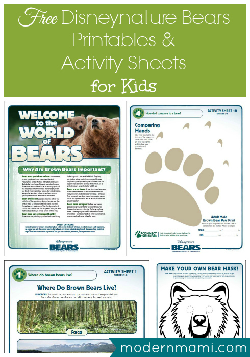 Free Disneynature Bears Printables & Activities for Kids