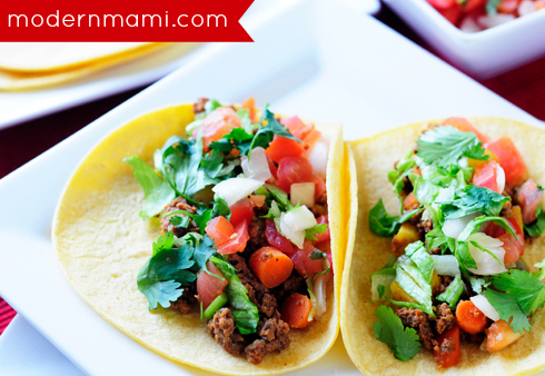Simple ground beef taco recipe tacos de carne molida modernmami